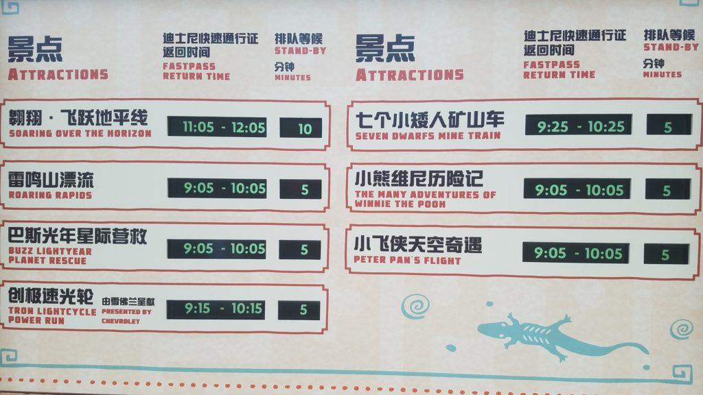 上海ディズニー 待ち時間