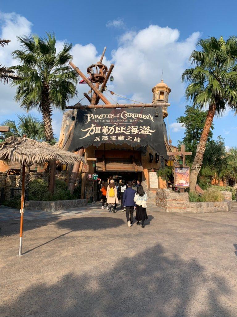 上海ディズニー カリブの海賊