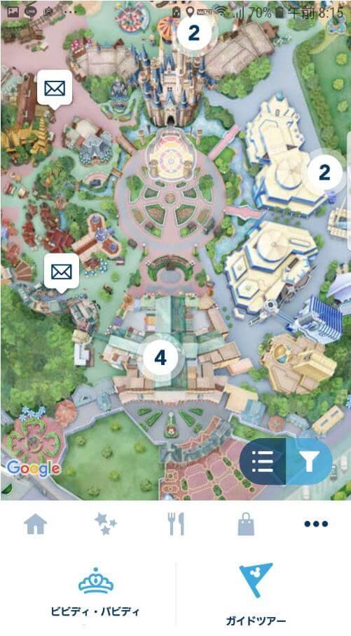 ディズニーのポストの場所はアプリでも探せる