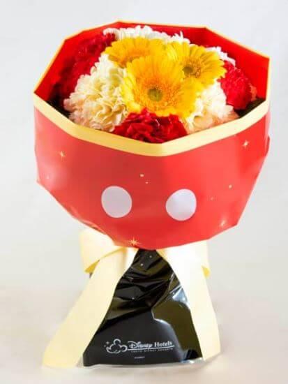 ディズニーランドホテルで記念日をお祝いするプラン 花束