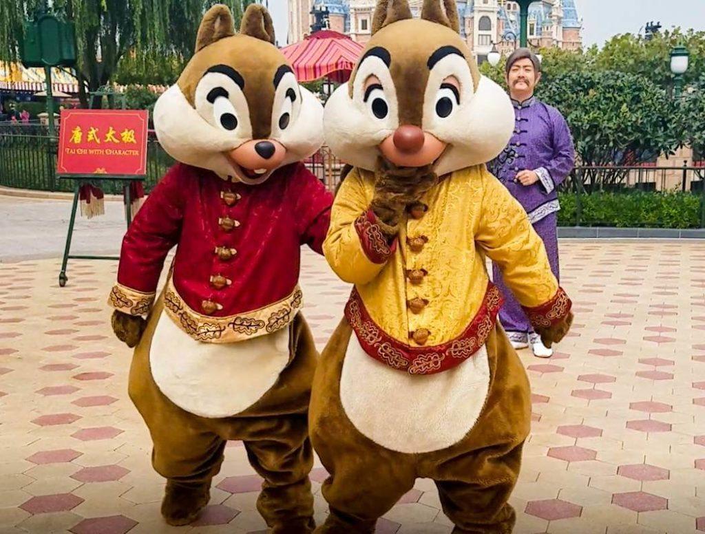 上海ディズニーで太極拳!「太極拳・ウィズ・キャラクター」の登場キャラクター/チップとデール