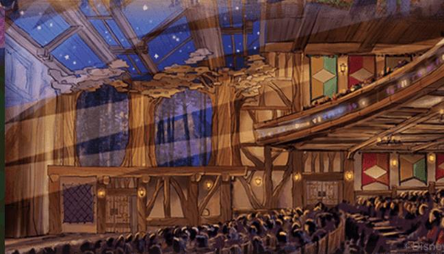 ファンタジーランド・フォレストシアター:ディズニーランド初の室内シアター施設