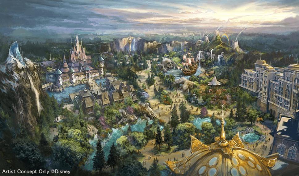 2023年にディズニーシーの新テーマポート「ファンタジースプリングス」がオープン