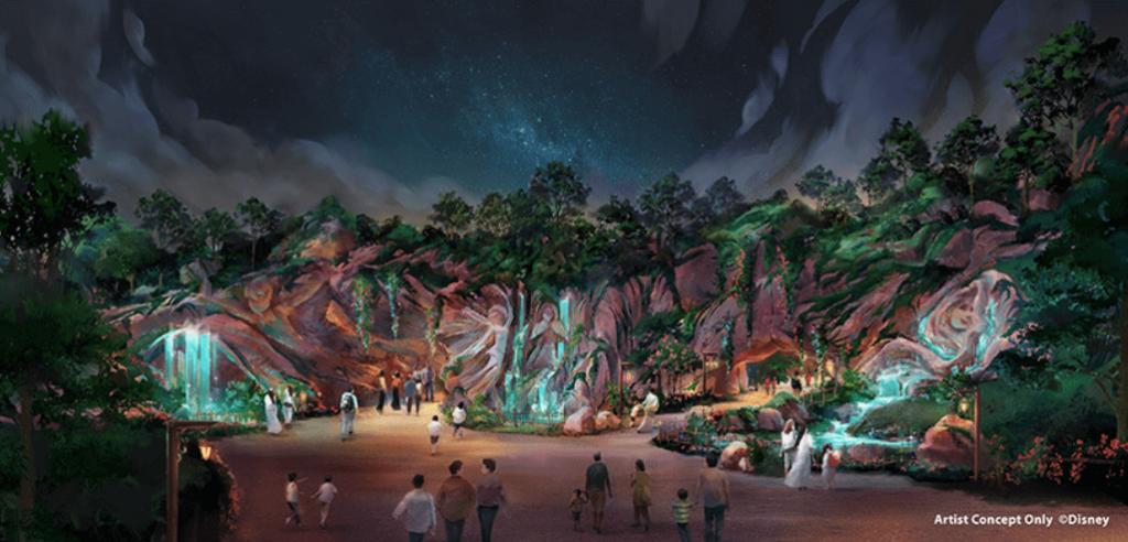 ディズニーシーの新エリア『ファンタジースプリングス』のイメージイラスト