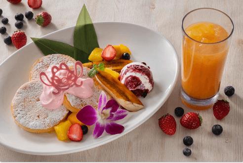 ポリネシアンテラス・レストラン(ランチ)のパンケーキメニューと値段/デザートパンケーキ・ドリンクセット
