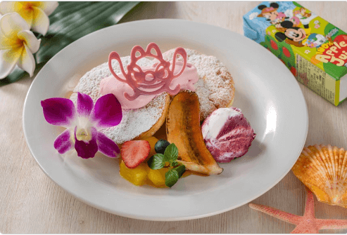 ポリネシアンテラス・レストラン(ランチ)のパンケーキメニューと値段/お子様パンケーキ(8歳まで)