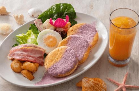 ポリネシアンテラス・レストラン(ランチ)のパンケーキメニューと値段/ランチパンケーキ・ドリンクセット