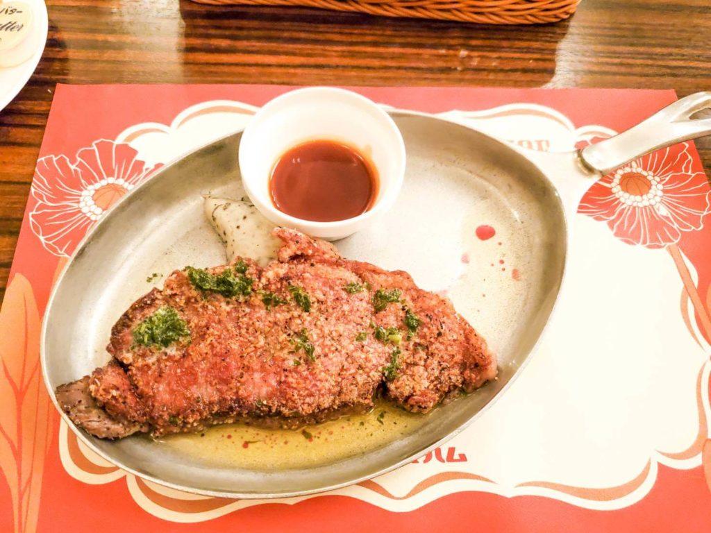 ダイヤモンドホースシューの新メニュー『ステーキセット』を食べた感想!!お肉は肉厚でデカイ!かなりのボリュームで必ず満腹になる