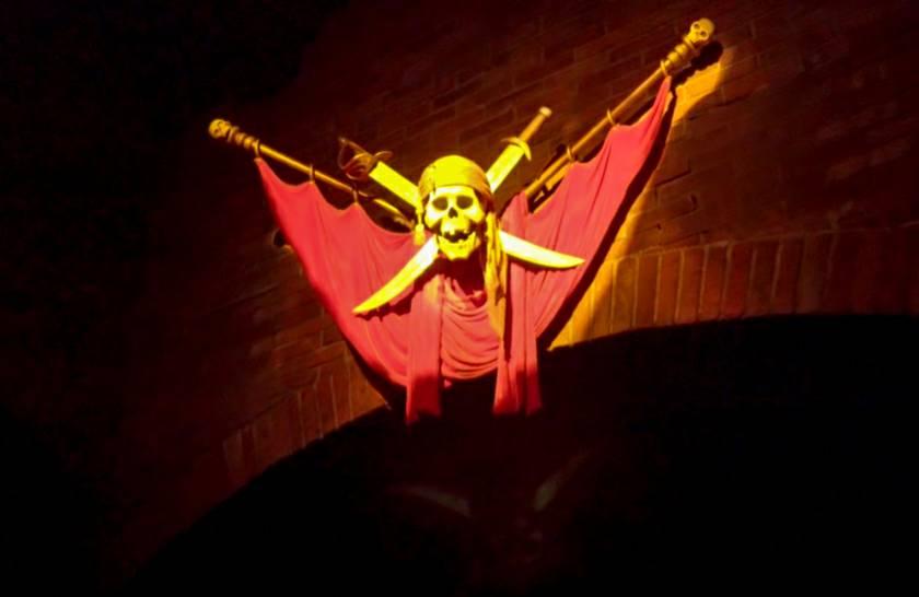 カリブ海賊で落ちるのは序盤!落下高さは低い!