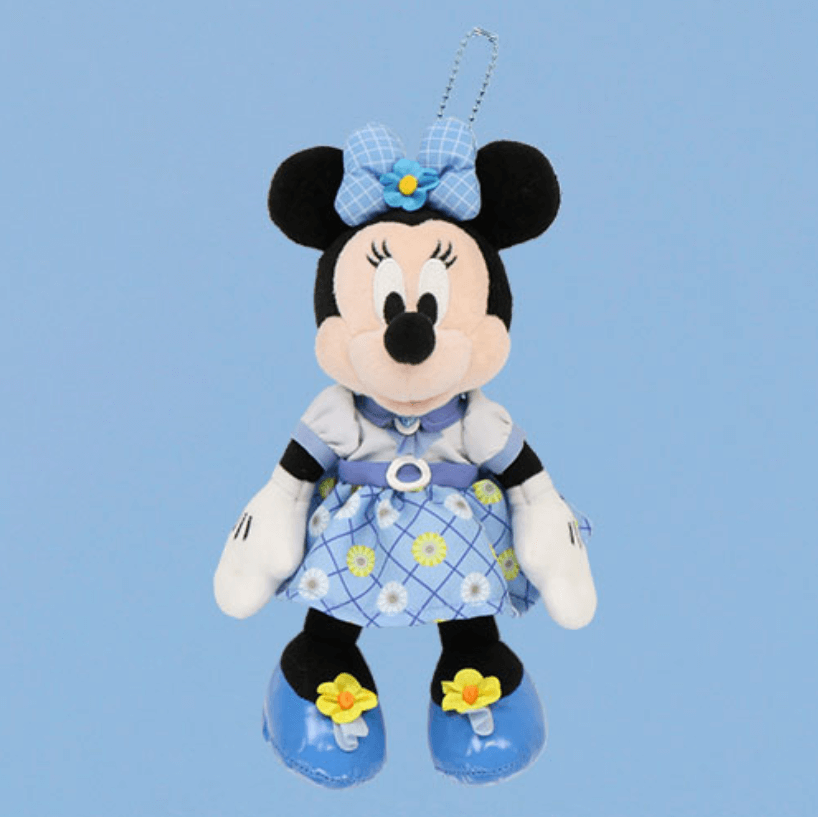 しあわせのブルーグッズ『Disney Blue Ever After』シリーズのグッズ一覧 ぬいぐるみバッジ ミニー
