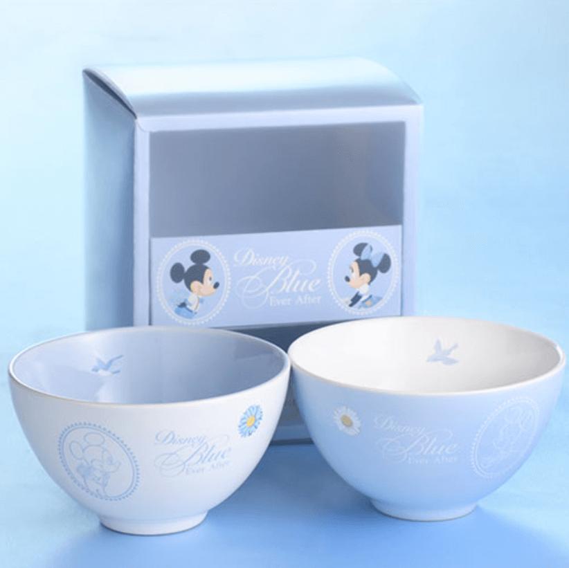 しあわせのブルーグッズ『Disney Blue Ever After』シリーズのグッズ一覧 茶碗セット