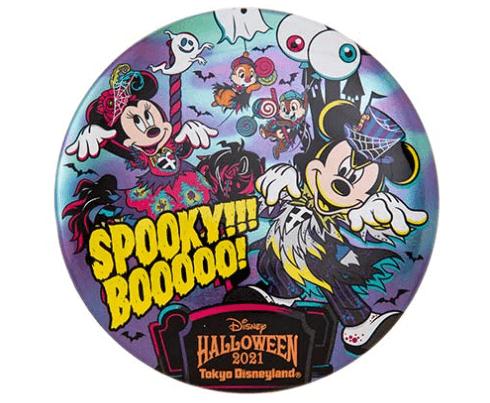 """ディズニーハロウィーン2021「スプーキー""""Boo!""""パレード」グッズ:雑貨 カンバッジ"""