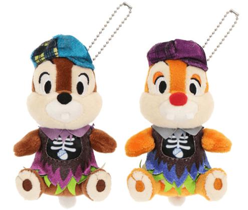 """ディズニーハロウィーン2021「スプーキー""""Boo!""""パレード」グッズ:ぬいぐるみバッジ チップ&デール"""