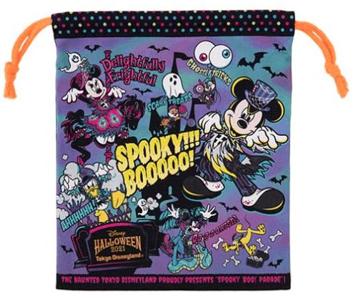 """ディズニーハロウィーン2021「スプーキー""""Boo!""""パレード」グッズ:雑貨 きんちゃく"""