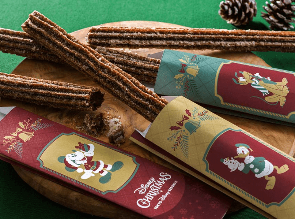 【TDL】ディズニークリスマス2021の食べ歩きフード【チョコレートチュロス】